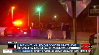 Man hit, killed by vehicle on Golden State Avenue near H Street. - Video