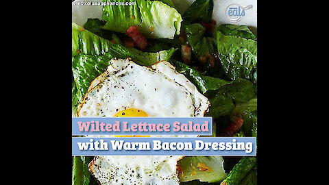 Wilted Lettuce Salad with Warm Bacon Dressing