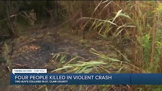 4 killed in 2-car crash near Algonac
