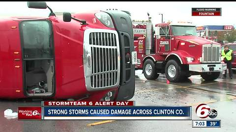 Strong storms leave trail of damage across Clinton County