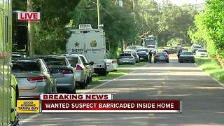 Wanted suspect barricaded inside Hillsborough Co. home - Video