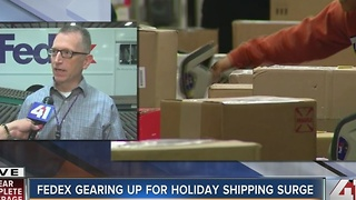 FedEx gearing up for holiday shipping surge - Video