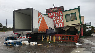Tractor-trailer crashes into Desert Inn and Restaurant in Yeehaw Junction