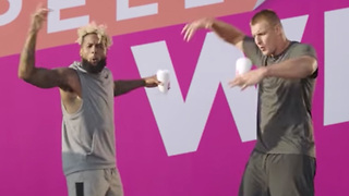 Odell Beckham Jr Impersonates Gronk's Touchdown Celebration in Dunkin Donuts Commercial - Video