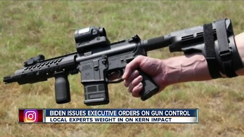 Biden issues executive orders on gun control, local experts weigh in on Kern impact