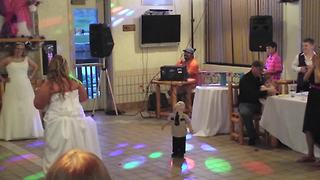 """""""A Tot Boy Tries to Dance at A Wedding Reception"""""""