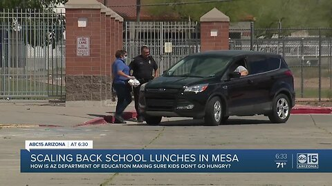 Scaling back school lunches in Mesa