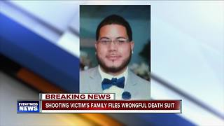 Shooting victim's family files wrongful death suit - Video