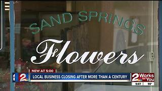 Flower shop in Sand Springs closing after 109 years - Video