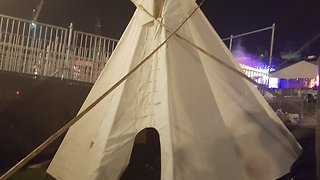 Teepee Erected Outside Parliament Ahead of Canada 150 Celebrations - Video