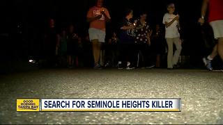 Law enforcement officers search for Seminole Heights killer - Video