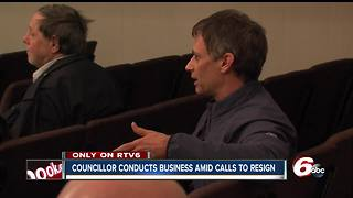 Indianapolis councilor conducts business as usual amid calls to resign for child molestation charges - Video