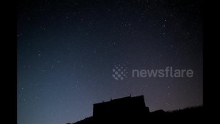 Perseid meteor shower filmed above Cornwall, UK - Video