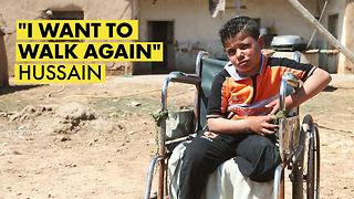 A Syrian boy's story after a landmine explosion - Video