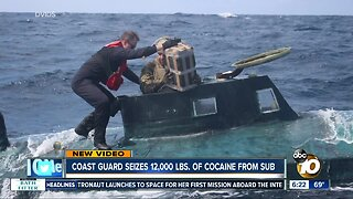 Coast Guard stops sub, seizes cocaine