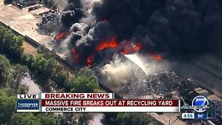 Fire breaks out at recycling plant in Commerce City
