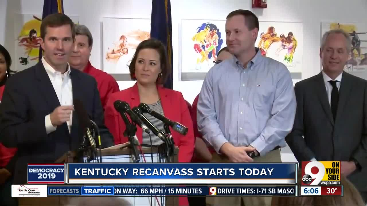 Recanvassing to begin in Kentucky after contested governor's race