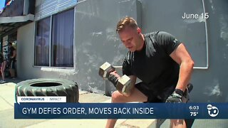North Park gym moves back inside after outside conditions