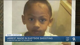 Five year-old girl struck by stray bullet