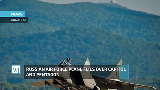 Russian Air Force Plane Flies Over Capitol And Pentagon - Video