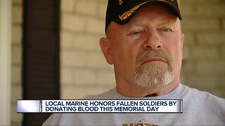 Local Marine honors fallen soldiers by donating blood this Memorial Day