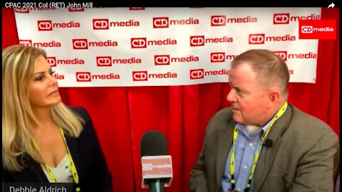 CDM At CPAC 2021: Debbie Aldrich With Col John Mills, US Army (RET)