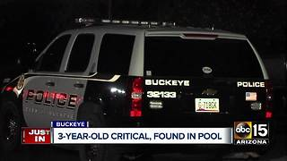 Child hospitalized after being pulled from pool in Buckeye - Video