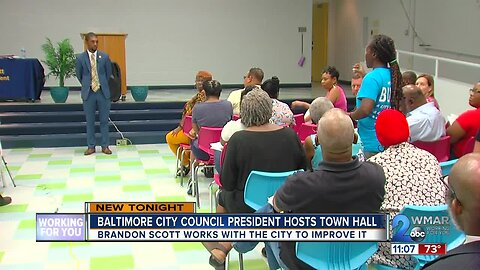 City Council President Brandon Scott holds town hall in Northeast Baltimore