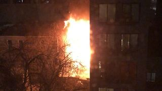 Fire Tears Through Three-Story Brooklyn Apartment - Video