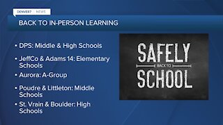 In-person learning starts Tuesday in many local districts
