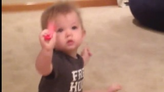 Adorable Baby celebrates after crawling for the first time  - Video