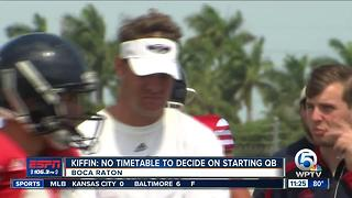 Kiffin: No Timetable set to decide on starting QB - Video