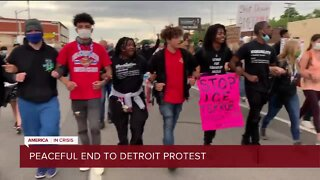 Peaceful end to Detroit protest
