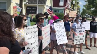 Group protests Brian Mast's comments