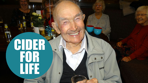 100-year-old man says cider is one of the keys to a long life