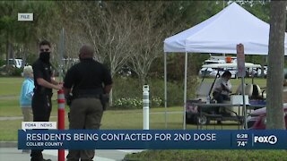 Collier County 2nd dose calls