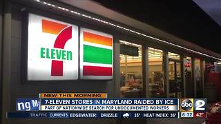 ICE raids 7-Eleven stores in Maryland looking for undocumented workers - Video
