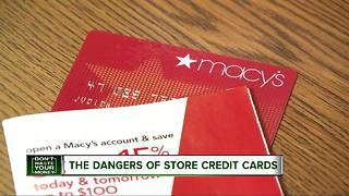 Don't Waste Your Money: The danger of store credit cards - Video