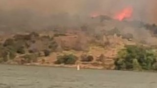 Inks Lake State Park Fire Burns Hundreds of Acres in Burnet County, Texas - Video