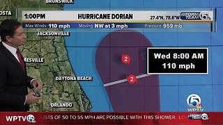 1 p.m. Tuesday Hurricane Dorian update