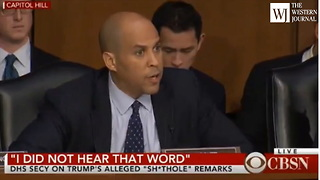 Corey Booker Yells at DHS Secretary, Claims Trump Triggered 'Tears of Rage' (C) - Video