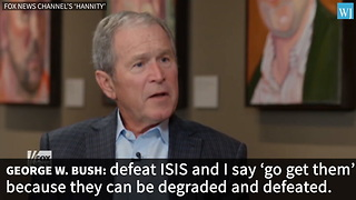 George W Bush Just Made 3 Word Announcement About Trumps Plan For ISIS Thats Turning Heads - Video