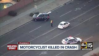 Motorcyclist killed in Phoenix crash Thursday night - Video