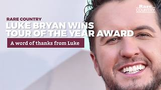 Luke Bryan Wins Tour of the Year | Rare Country Awards - Video