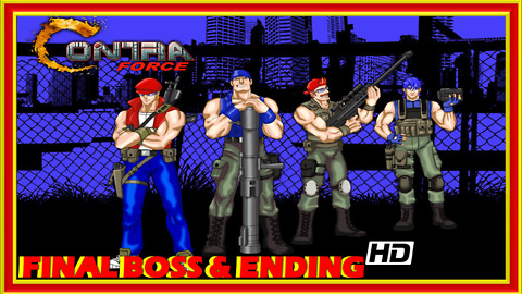 Contra Force (NES) Final Boss Fight & Ending - 60 FPS HD