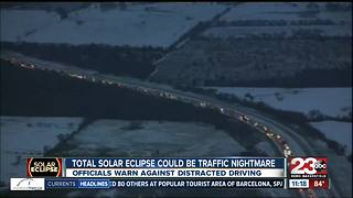 Total solar eclipse could be traffic nightmare - Video