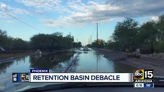 Roads still flooding after multi-million dollar basin built - Video