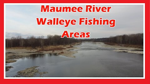 Maumee River Walleye Fishing Areas Aerial View