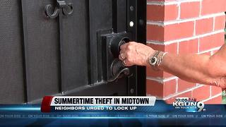 Summertime burglaries up in Midtown neighborhood - Video