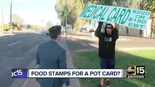 Can food stamps be used for medical marijuana cards? - Video